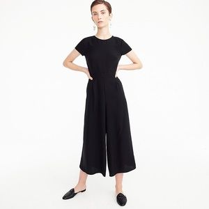 J. Crew Drapey Wrap Back Jumpsuit in Black